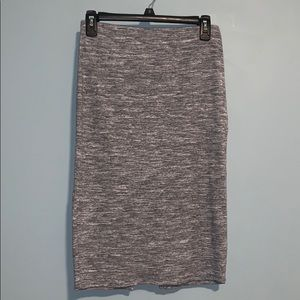 Forever 21 Black and Gray Stretch Pencil Skirt
